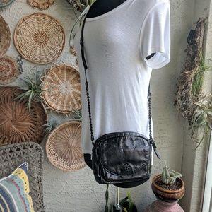 Elliott Lucca black leather mini crossbody bag EUC